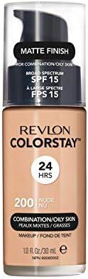 Revlon Colorstay Liquid Foundation Makeup for Combination/Oily Skin SPF 15, Longwear Medium-Full Coverage with Matte Finish, True Beige (320), 30 ml