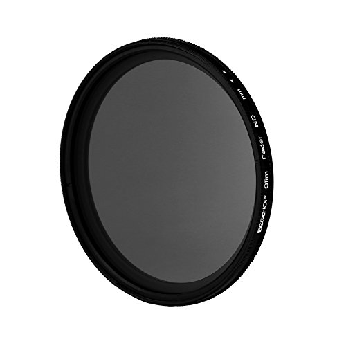 Beschoi 72mm ND Filter Variable Neutral Density ND2 to ND400 Compatible with Canon 7D 60D 70D 500D, Nikon D7000 D600 D300, Sony A77 NEX 5 DSLR Cameras + Lens Cleaning Cloth