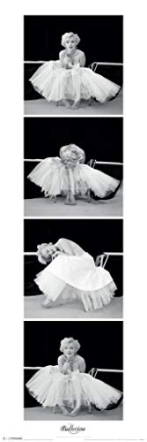 Pyramid America Marilyn Monroe Ballerina Vertical Sequence Hollywood Glamour Celebrity Actress Photo Cool Wall Decor Art Print Poster 12x36