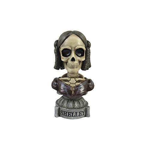 Busto de autores muertos del mundo de las maravillas | Decoración de horror zombi | Estatua | Decoración de Halloween | Habitación...