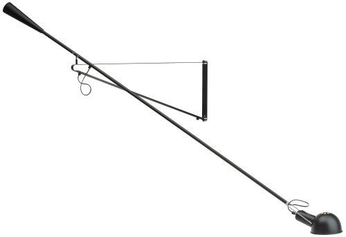 Flos 265 Wandleuchte, Schwarz, 200,5cm