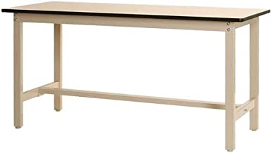 スチールラックのキタジマ 作業台 ポリエステル天板 幅180×奥行75×高さ90cm ベイジュ 300kg/段