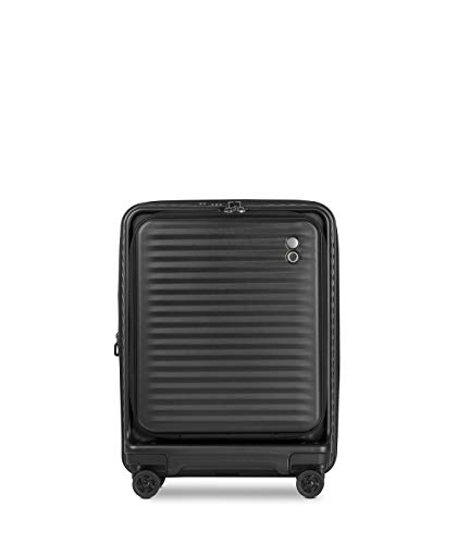 Echolac Celestra EchoLite Polycarbonate Suitcase, Small 55 cm Carry-On Cabin Hand Luggage with Computer Compartment and Expander, Black