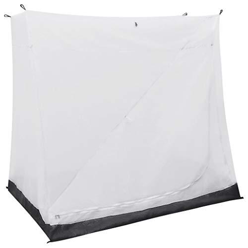 vidaXL Universal Innenzelt für Vorzelt mit Lüftungsnetz Camping Schlaf Kabine Zelt Campingzelt Schlafzelt Schlafkabine Bett Grau 200x135x175cm