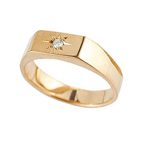 [アトラス] Atrus リング レディース 婚約指輪 18金 ピンクゴールドk18 一粒 ダイヤモンド 印台 指輪 エンゲージリング 15号
