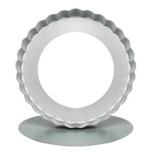 Hellohouse Moules Moule à tartelette cannelée en acier inoxydable avec supports de courroie, 12 cm (lot de 6)