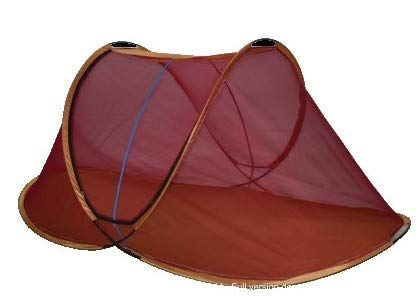 AL Sunnah Mosquito Net for Single Bed (6.5 ft) Foldable :: Standard Quality (Maroon)