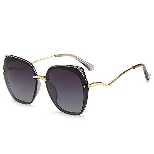 YFDD Gafas de Sol 2019 Sra Grande de la Caja Nuevo Retro Gafas de Sol de Moda de conducción de conducción Polaroids Conveniente for Compras, Viajar, Ciclismo, Reuniones, etc, b aijia