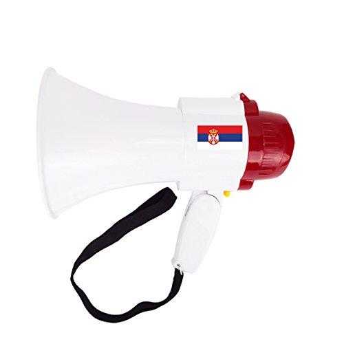 Sonia Originelli Megaphone Groß Fan WM Fußball Länder Sound Tröte Lärm Anfeuern Farbe Serbien