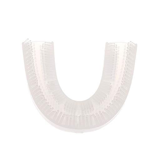 Anself testine spazzolino elettrico,360 ° automatico impermeabile U Tipo Spazzolino Teste di ricambio Teste per lo sbiancamento dei denti in silicone