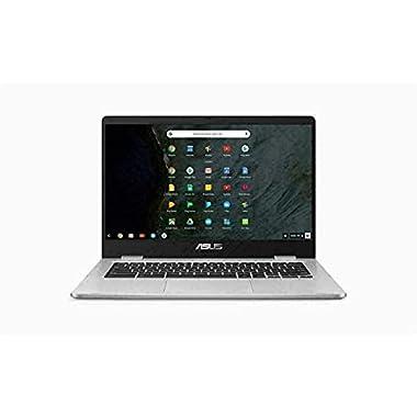 ASUS 14″ HD Anti-Glare Nano-Edge Chromebook Laptop Computer, Intel Celeron N3350 up to 2.4GHz, 4GB DDR4, 64GB eMMC, Webcam, 802.11ac, USB-C, Chrome OS, Google Classroom Ready, TWE Accessory