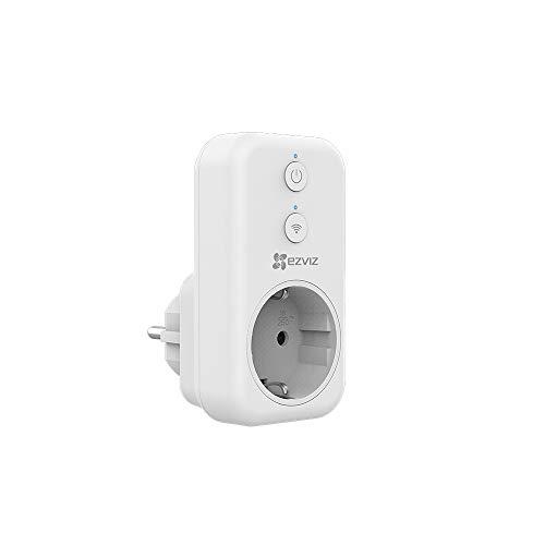 EZVIZ T31 Smart Plug, WLAN stopcontact (werkt met Alexa, Google Home, met app-besturing en timer, helderheid instelbare weergave, 16 A, 4000 W) Zonder elektriciteitsstatistieken.