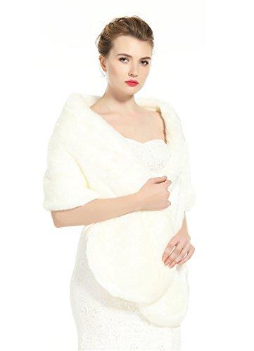 BEAUTELICATE Scialle Stola Donna Pelliccia Scialli Sciarpa Coprispalle Elegante per Matrimonio Invernale Cerimonia Sposa Damigella