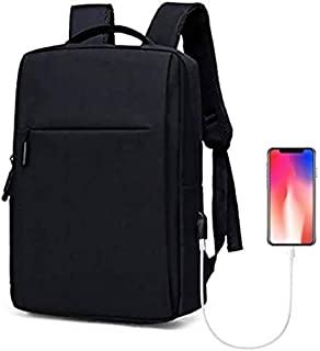 Laptop Backpack, Travel Computer Bag,Business Anti Theft Backpack with USB Charging Port,Water Resistant College School Computer Bag for Women & Men Fits 15.6 Inch Laptop and Notebook-Black