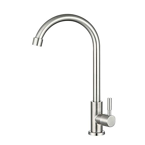 Kitchen Water Filter Faucet, StainlessFaucet,One-Handle Pulldown Kitchen Faucet , Fits Reverse Osmosis Units or Water Filtration System in Non-Air Gap, Stainless Steel 304 Body Brushed Nickel Finish
