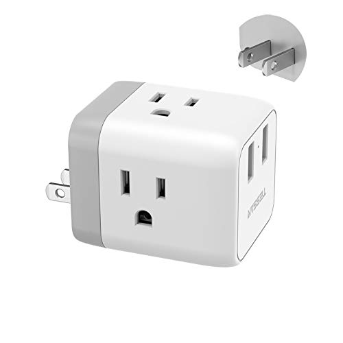of foreign plug adapters dec 2021 theres one clear winner 2 Prong to 3 Prong Adapter, TESSAN 3 Outlets with 2 USB Charging Ports, Multi Plug Outlet Extender Splitter, Travel Power Plug Adapter for US to Japan Canada Mexico Philippines, Type A