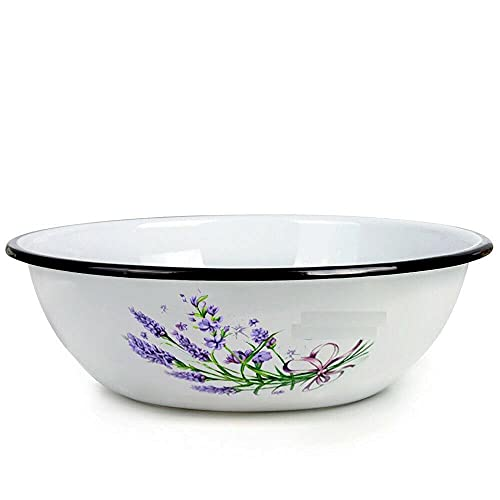 Steel Mixing Bowl w/ Floral Pattern 4.2 qt Kitchen devices Kitchen utensils set Kitchen equipment Cooking utensils mixing bowl Kitchen utensils