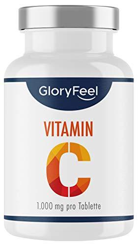 Vitamin C 1000mg - Vergleichssieger 2020* - 200 Tabletten (7 Monate) - Unterstützt Nerven- und Immunsystem ** - Laborgeprüft, hochdosiert, vegan und ohne Zusätze hergestellt in Deutschland