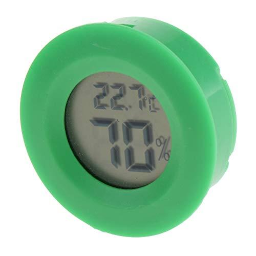 perfk Digitales Thermo-Hygrometer Temperatur Luftfeuchtigkeit Messgerät für Terrarium - Grün