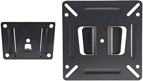 Soporte de pared para monitor de 14 a 24 pulgadas LED LCD de perfil bajo plano curvo TV o ordenador, soporte de monitor fijo pequeño con tornillo