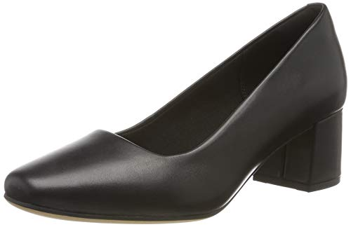 Clarks Damen Sheer Rose Pumps, Schwarz (Black Leather), 38 EU