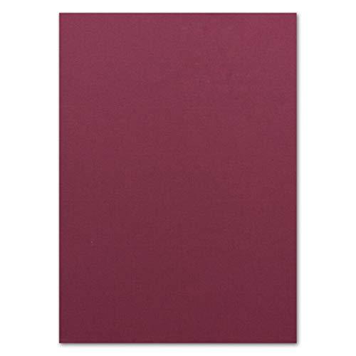 50 Blatt Ton-Karton DIN A4 - Farbe: Brombeer -Ton-Papier 220 g/m² gerippte Oberfläche - Ton-Zeichen-Papier Bastel-Papier Bastel-Karton - Glüxx-Agent
