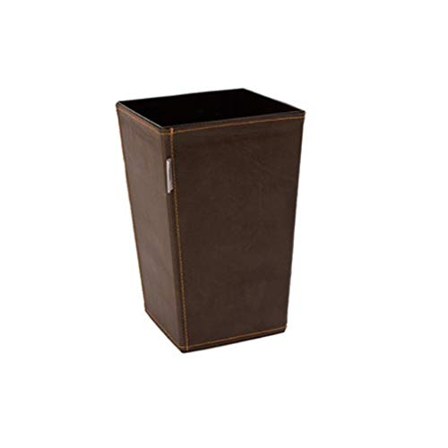 ZNZN Bote de Basura Canastas De Basura Cubo De Basura Clásico Basket De Papel De Papel para Baño, Cocina, Oficina Y Alta Clase De Hotel Papeleras (tamaño : 11L/2.9 gallons-Brown)