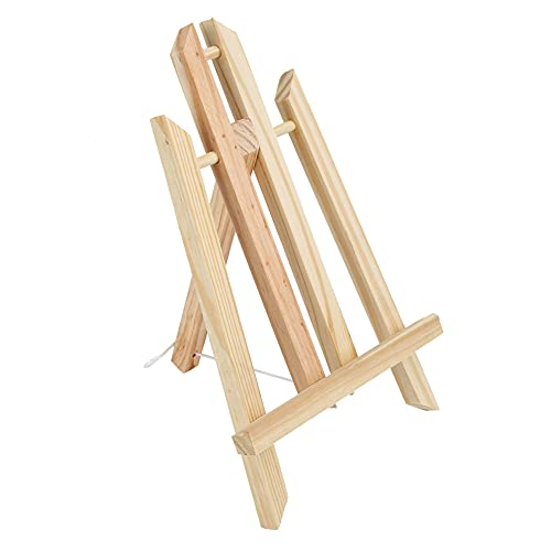 Caballete de madera Tableta plegable de madera de haya Mesa de soporte...