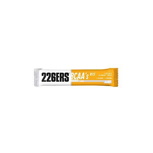 226ERS Vegan Gummy Bars   Barrita Energética Vegana con BCAAs 8:1:1, Snack Deportivo Ciclismo y Running, Mango - 1 barra