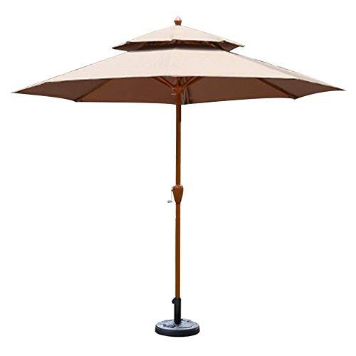 Upgrade Parasols 9ft / 2.7m Gartenschirm mit Kurbelgriff, Sonnenschutz Wasserdichter Schutz für Terrasse, Balkon, Terrasse, Pool, Strand Sonnenschutz (Farbe: Dunkelgrün)...