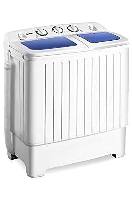 Giantex Portable Mini Compact Twin Tub 17.6lbs Washing Machine