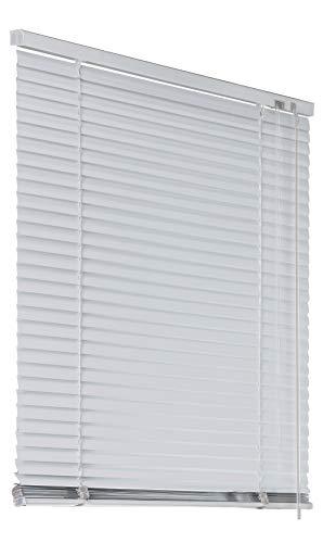 Deco4Me Alu Jalousie Aluminiumjalousie 70x220cm weiß Rollo Schalusie Jalousette Tür Fensterjalousie Sonnenschutz Sichtschutz
