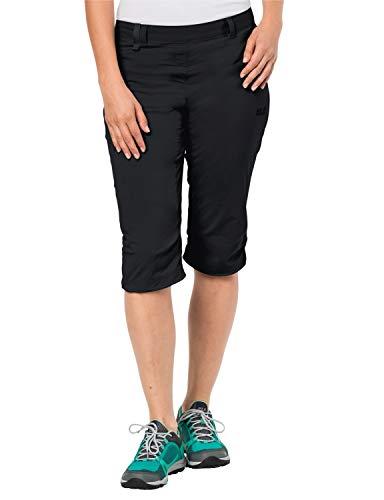 Jack Wolfskin, softshellbroek voor dames, Jack Wolfskin Activate Light 3/4 broek, elastisch, ademend, waterafstotend, outdoor softshellbroek