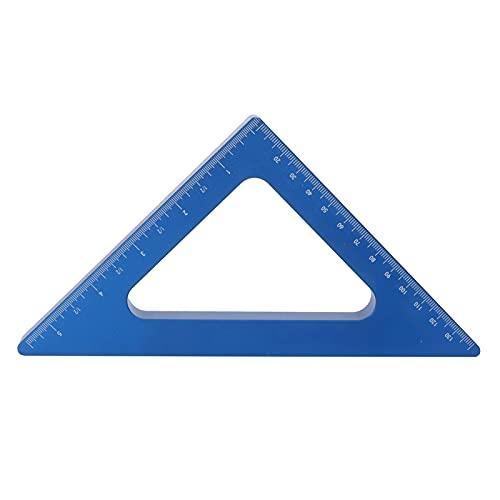 Herramienta de medición de carpintería, regla triangular de 90 ° resistente al desgaste Regla triangular de aleación de aluminio para medición de fabricación de carpintería