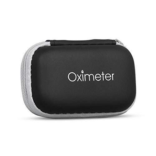 Womdee Pulse Oxímetro Case – Caja de oxímetro de Pulso con Cierre EVA Duro con Signo de oxímetro – Funda Protectora portátil para Pulso de Dedo oxímetro para Viajar (Negro)