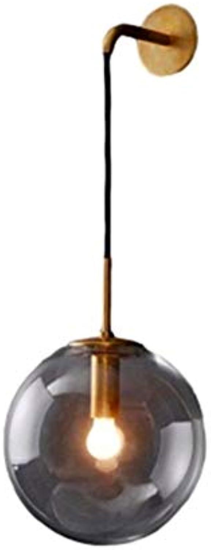 Modern LED Wandleuchte Einfache runde glas schlafzimmer wandleuchte kreative persnlichkeit restaurant hotel gang lampe moderne einzigen kopf bett wandleuchte hhe 15 cm Coffee Shop,Schlafzimmer.