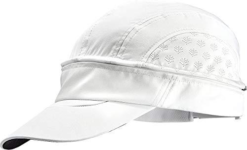 Coolibar UPF 50+ Men's Women's Court Convertible Visor - Sun Protective (Small/Medium- White)