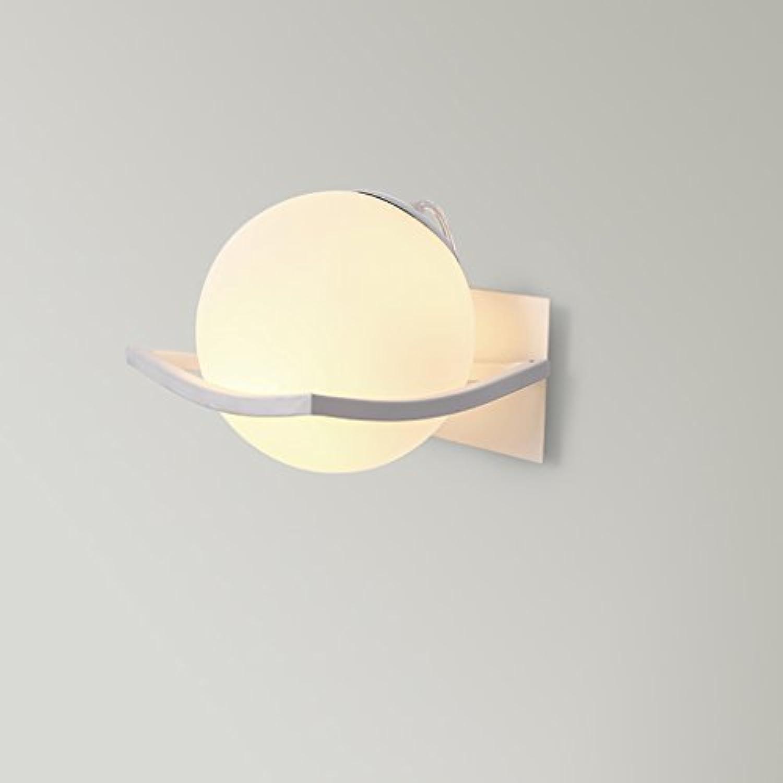William 337 Wandleuchte - Moderne minimalistische Glaskugel Schlafzimmer Kopfteil Wandleuchte Wohnzimmer Flur Gang Hintergrund Wandleuchte (15cm  15cm)
