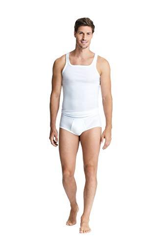 con-ta Unterhemd, Unterwäsche für Herren, Achselhemd in Feinripp, klassisch bequemes Oberteil, Männerwäsche aus Baumwolle, in Weiß, Größe: 7