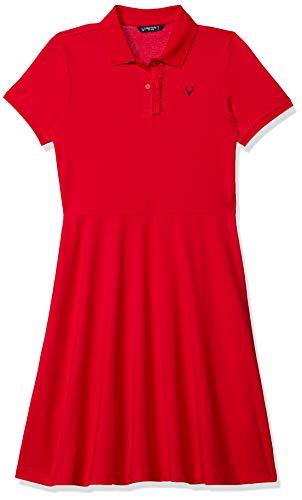 Allen Solly Junior Girl's Sun Dress (AGDRERGFV01884_Red_10)