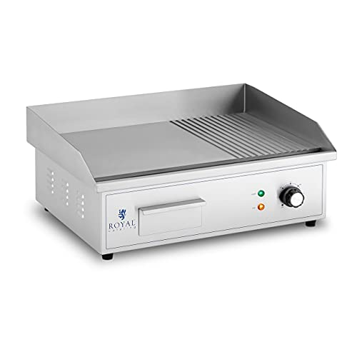 Royal Catering Plancha Eléctrica Fry-Top para Cocina Parrilla Profesional RCPG42-M (Placa lisa...
