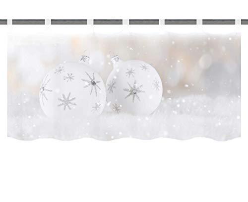 "Home Fashion 052744-0101"" SIMIANO, Polyester, Weiß, 45 x 120 cm"