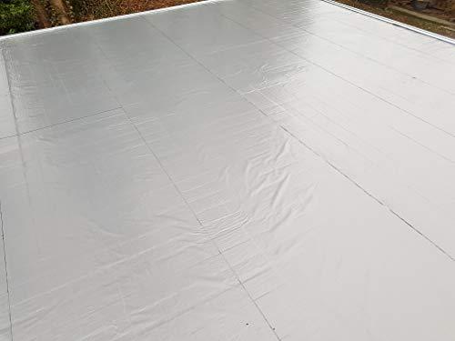 Agande (ab10.79€/m²) selbstklebende Dachfolie Dachbahn 5m² Gartenhäuser Dachabdichtung Bitumen