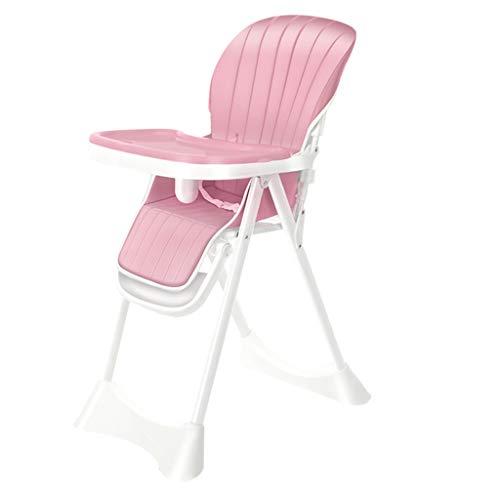 Home Mall- Chaise de Repas pour bébé Multifonction, déformable, Pliable, Distance du Plateau Ajustable pour Les Enfants de 1 à 6 Ans ( Color : Fabric Pad - Pink )