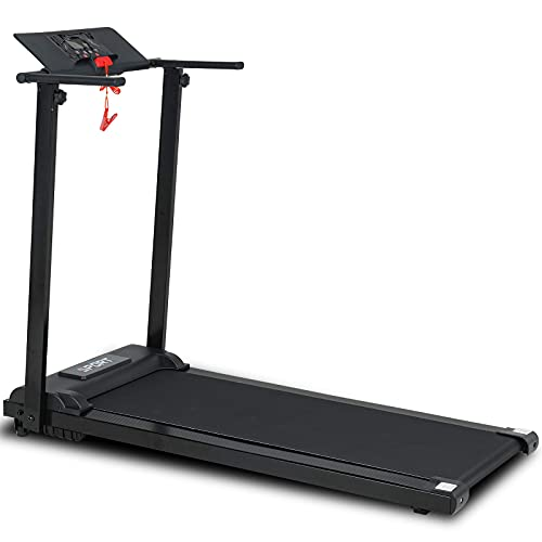 Murtisol Folding Treadmill for Home, Portable Electric Exercise Running Walking Jogging Fitness Machine, Easy Assemble with LCD Display& Low Noise Motor, for Home Gym (Black)