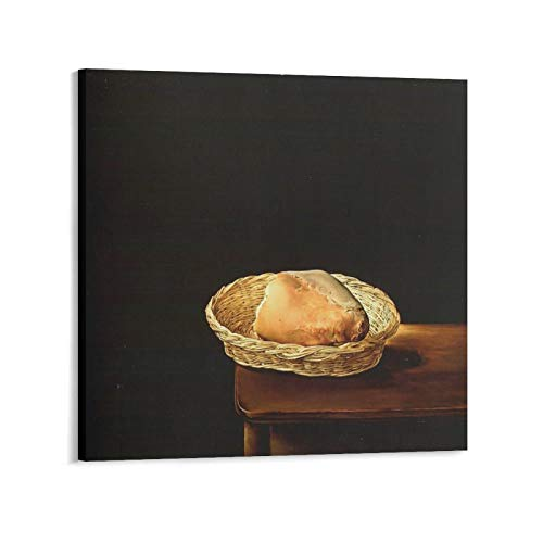 KMQF Basket of Bread by Salvador Dalí Surrealism Artist Wall Art Picture Painting Poster Canvas Print Posters Artworks Bedroom Living Room Decor 24×24inch(60×60cm)