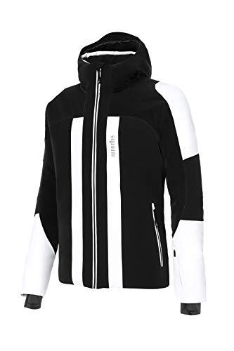 zerorh+ Moos Veste de Snowboard pour Homme, Homme, INU2768 53CM, Dark Grey/Black/White, M