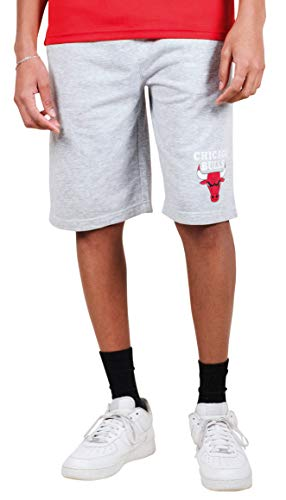 Ultra Game NBA Chicago Bulls Mens French Terry Shorts, Heather Gray, XX-Large
