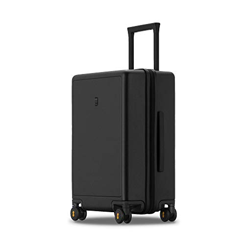 LEVEL8 Luggage Hardshell Suitcase for Checked-In with TSA Lock, Spinner Wheels - 24 Inch, Black