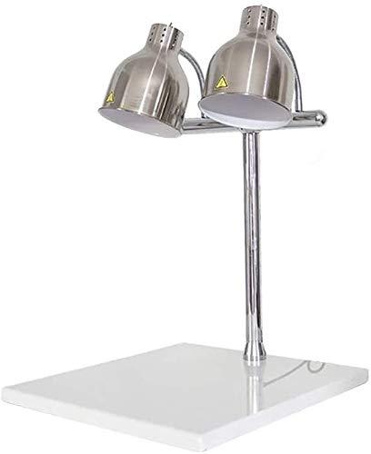 PEDFI Voedsel verwarming Warme lamp eettafel, bevat salontafel zwarte marmer